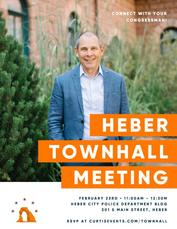 Heber Town Hall Flyer - Congressman Curtis